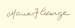Maria George signature